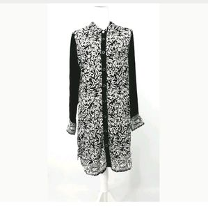 Soft Surroundings S Black And White Tunic Dress